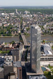 Edifícios de operação bancária de Francoforte Imagem de Stock Royalty Free