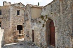 Edifícios de pedra em Baux de Provence imagem de stock royalty free