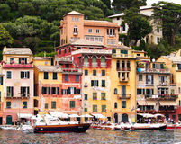 Edifícios de Portofino imagem de stock royalty free