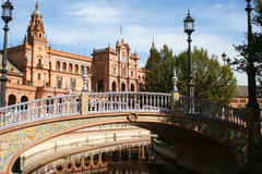 Edifícios de Sevill Fotografia de Stock Royalty Free