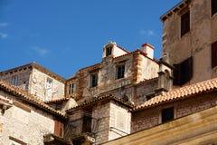 Edifícios de tijolo velhos Imagens de Stock Royalty Free