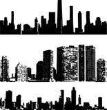 Edifícios do estilo de Grunge ilustração royalty free