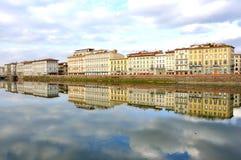 Edifícios do hotel em Florença, Italy Fotos de Stock Royalty Free