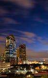 Edifícios do leste de Houston da baixa Foto de Stock Royalty Free