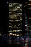 Edifícios do negócio na noite Foto de Stock