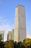 Edifícios do negócio no centro do anúncio publicitário de Shanghai Imagem de Stock