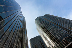 Edifícios do negócio (torres de comércio) imagens de stock royalty free