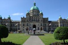 Edifícios do parlamento do Columbia Britânica Foto de Stock Royalty Free