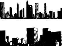 Edifícios do stlye de Grunge ilustração do vetor