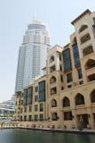 Edifícios dos hotéis em Dubai da baixa, UAE Fotos de Stock Royalty Free