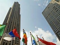 Edifícios e bandeiras Imagem de Stock Royalty Free