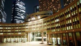 Edifícios em Shinjuku, Tokyo na noite Imagem de Stock
