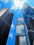 Edifícios financeiros de Hong Kong Foto de Stock