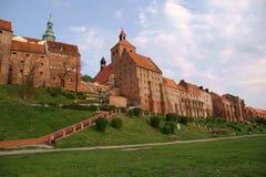 Edifícios góticos em Grudziadz imagem de stock royalty free