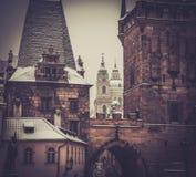 Edifícios históricos em Praga imagens de stock