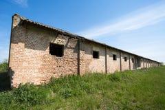 Edifícios industriais abandonados Fotografia de Stock
