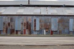 Edifícios industriais abandonados Fotografia de Stock Royalty Free