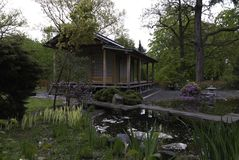 Edifícios japoneses tradicionais Foto de Stock Royalty Free