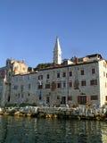 Edifícios litorais em Rovinj, Croatia. Fotos de Stock Royalty Free