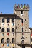 Edifícios medievais em Arezzo (Toscânia, Italy) Foto de Stock Royalty Free