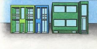Edifícios modernos 1 imagem de stock