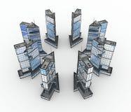 Edifícios modernos, centro da seta Imagem de Stock