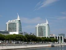 Edifícios modernos em Lisboa (Portugal). Imagem de Stock Royalty Free