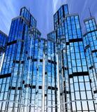 Edifícios modernos, fachadas Fotografia de Stock Royalty Free