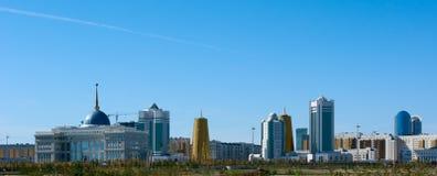 Edifícios na parte central de Astana Imagens de Stock
