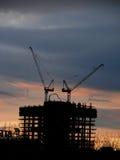 Edifícios novos em Moscovo. Construção. Fotografia de Stock Royalty Free