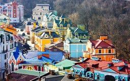 Edifícios pequenos coloridos bonitos de Podol Fotos de Stock