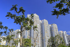 Edifícios residenciais novos Fotografia de Stock Royalty Free