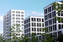 Edifícios urbanos modernos Fotografia de Stock