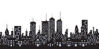 Edifícios urbanos na cidade Fotografia de Stock Royalty Free