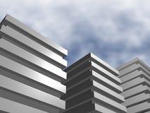 Edifícios urbanos sombrios Fotografia de Stock Royalty Free