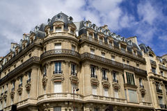 Edifícios velhos de Paris Fotografia de Stock