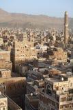 Edifícios velhos de Sanaa imagens de stock royalty free