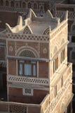 Edifícios velhos de Sanaa imagem de stock
