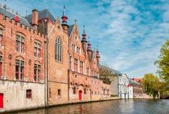 Edifícios velhos em Bruges Imagem de Stock
