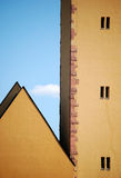 Edifícios velhos em Francoforte Fotos de Stock Royalty Free