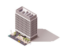 Edifício isométrico do vetor Imagem de Stock Royalty Free