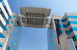 Edifício moderno em Sao Paulo Foto de Stock Royalty Free