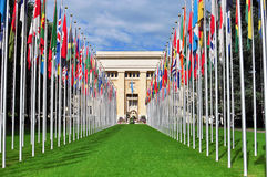 Edifício nacional unido, Genebra Imagens de Stock