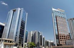 Edifícios modernos em Sao Paulo Fotos de Stock