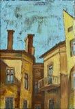 Edifícios velhos da cidade Imagens de Stock Royalty Free