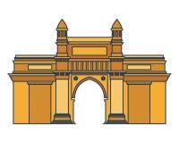 Edification of gateway of india isolated icon. Vector illustration design royalty free illustration