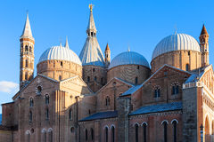 Edifice of Basilica of Saint Anthony of Padua. Travel to Italy - edifice of Pontifical Basilica of Saint Anthony of Padua Basilica di sant`antonio di padova in Royalty Free Stock Photos