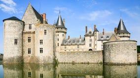 Edifice of castle Chateau de Sully-sur-Loire. SULLY-SUR-LOIRE, FRANCE - JULY 9, 2010: edifice of castle Chateau de Sully-sur-Loire. The fort is Renaissance Stock Photo