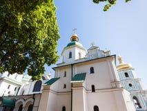 Edifice of Saint Sophia Cathedral in Kiev city. Travel to Ukraine - edifice of Saint Sophia Holy Sophia, Hagia Sophia Cathedral in Kiev city in springin Kiev Royalty Free Stock Image