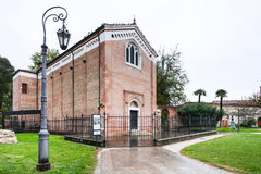 Edifice of Scrovegni Chapel in Padua city Stock Image